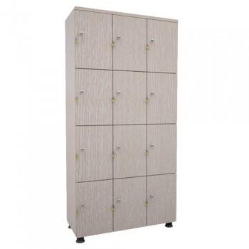 Tủ locker gỗ tai khóa ngoài 12 ngăn TUG12