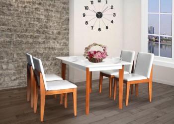 Bộ bàn ghế ăn gỗ HGB62A, HGG62
