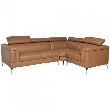 Sofa góc 3 chỗ bọc da thật SF502