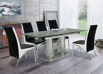 Bộ bàn ghế ăn chân Inox B56, G56
