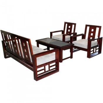 Bộ Sofa gỗ Hòa Phát SF72