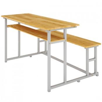 Bàn ghế sinh viên mặt gỗ tự nhiên BSV108G