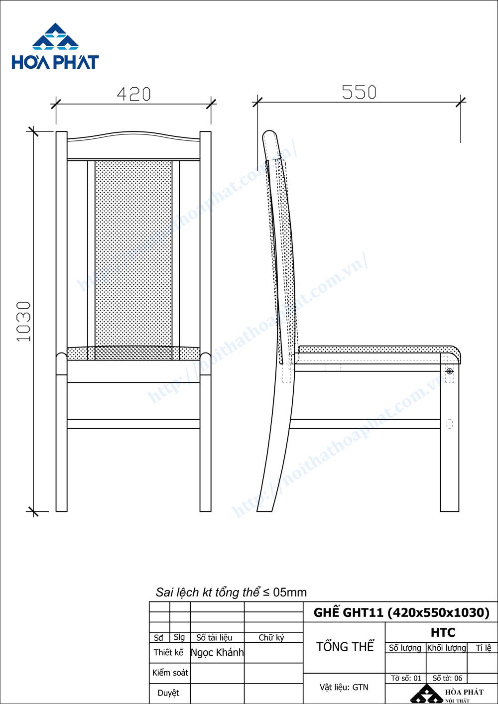 Bản vẽ kỹ thuật ghế hội trường GHT01