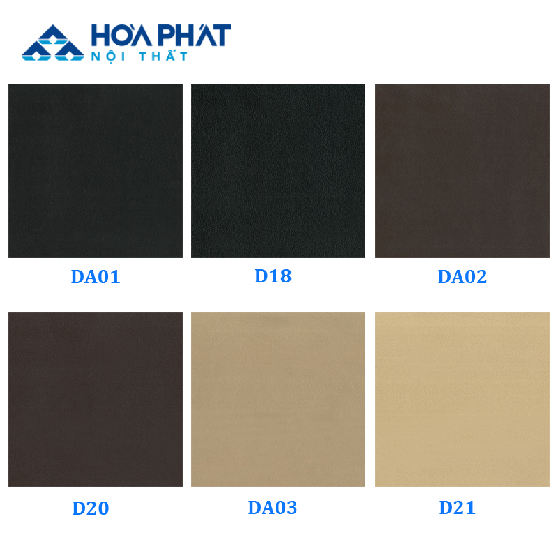 Bảng mẫu màu da tiêu chuẩn dòng sản phẩm ghế SG