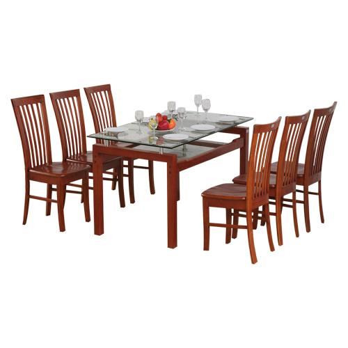 Bộ bàn ghế ăn gỗ tự nhiên TB09+TGA02