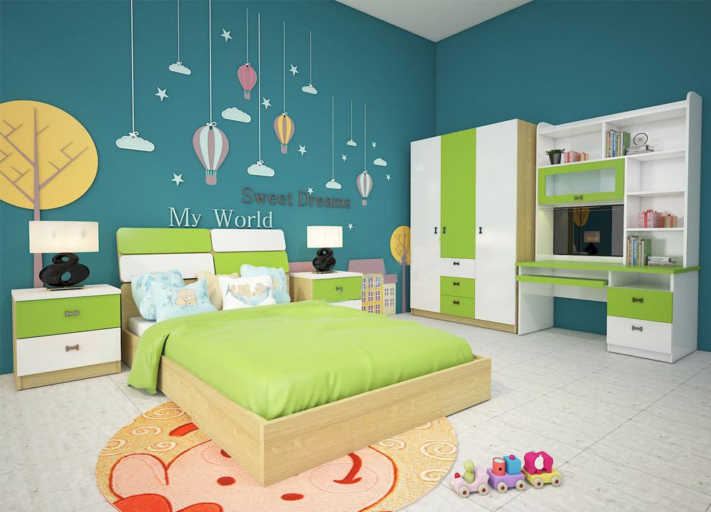 Bộ giường ngủ trẻ em GNE301