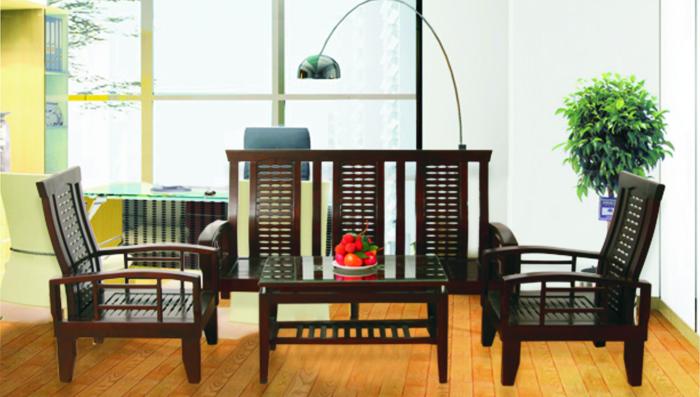 Bộ Sofa gỗ tự nhiên Hòa Phát SF70