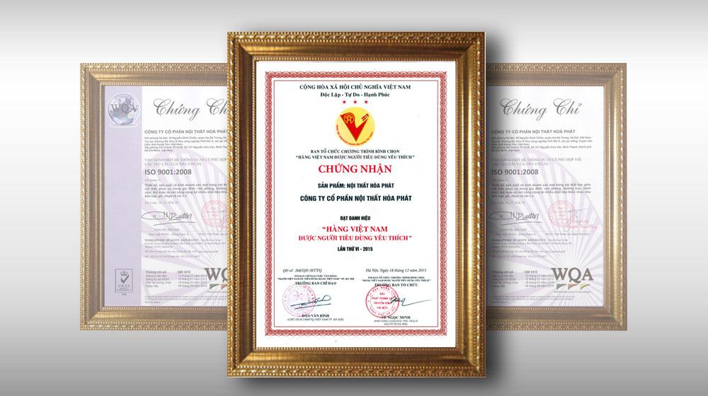Danh hiệu hàng Việt Nam được người tiêu dùng yêu thích lần thứ VI -2015