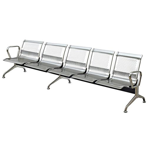Ghế phòng chờ inox 5 chỗ ngồi PS02-5