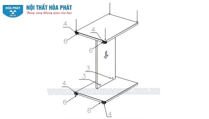 Hoàn thiện chân bàn HP120, HP120S