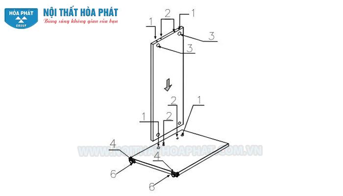 Lắp chân bàn HP120, HP120S
