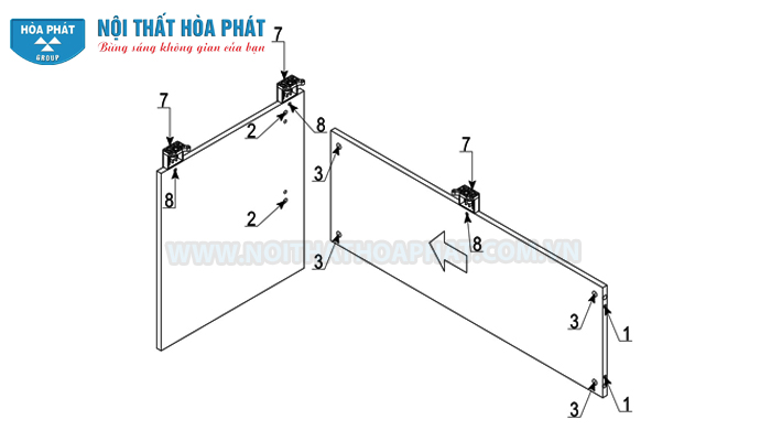 Lắp đặt chân bàn làm việc NT120-180
