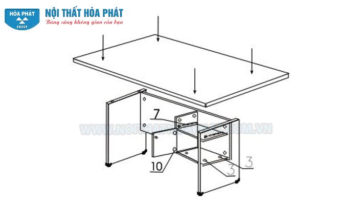 Hướng dẫn lắp đặt bàn nhân viên SV120HL-180HL