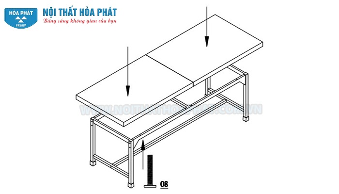 lắp đệm bàn siêu âm BSA01