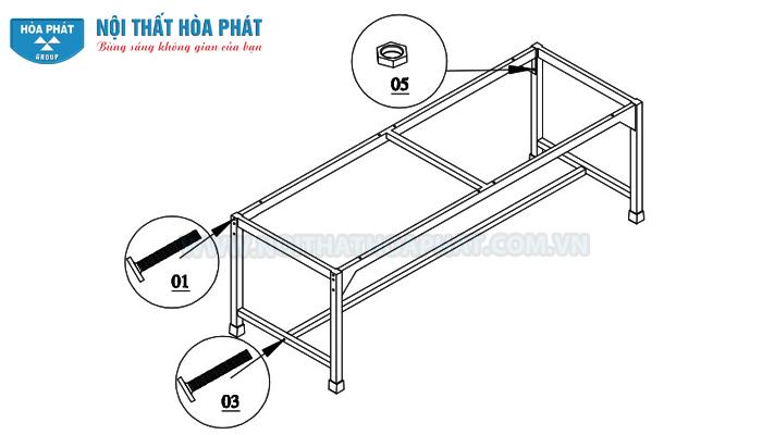 lắp khung chân bàn siêu âm BSA01