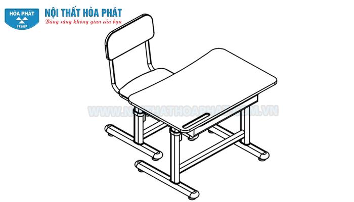 lắp đặt hoàn thiện bộ bàn học sinh BHS29, GHS29