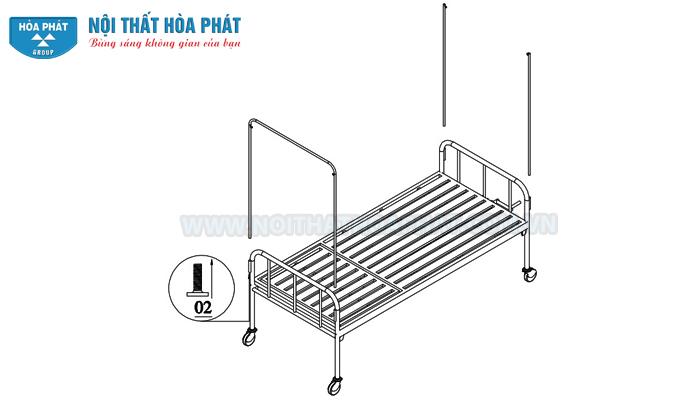 Hướng dẫn lắp đặt giường bệnh nhân GYT02