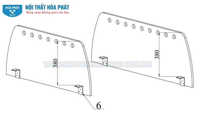 lắp vách ngăn gỗ sơn Module HRMD02