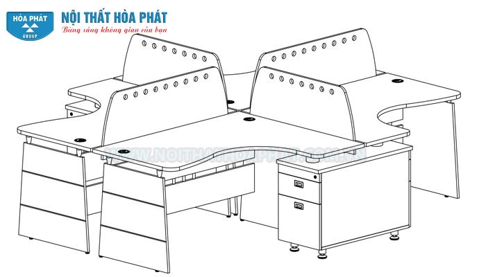 Hướng dẫn lắp đặt Module bàn làm việc HRMD02