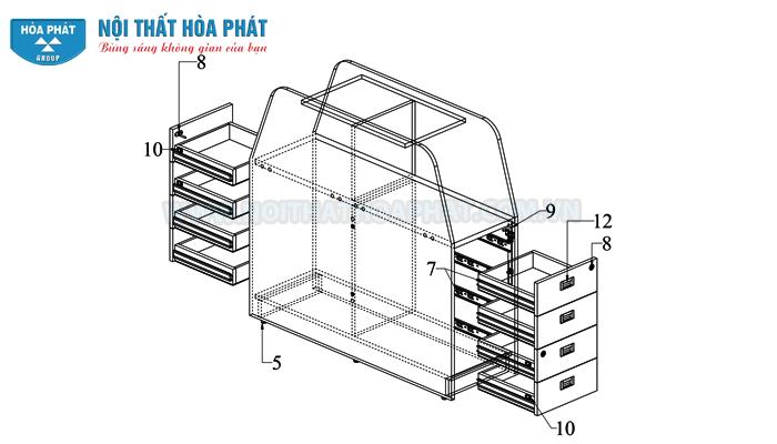 Lắp hộc tài liệu HRMD03