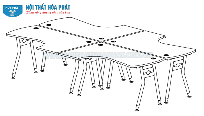 Hướng dẫn lắp đặt Module bàn làm việc HRMD04