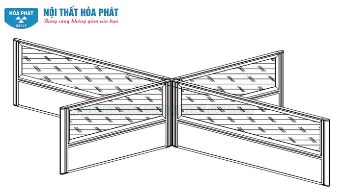 lắp đặt vách ngăn gỗ kính module HRMD04