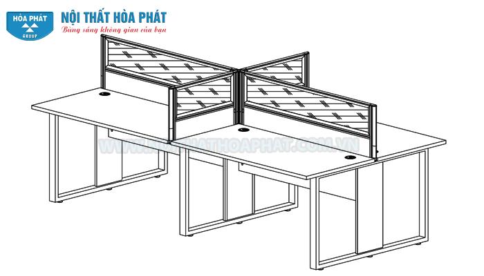 Hướng dẫn lắp đặt Module bàn làm việc HRMD05