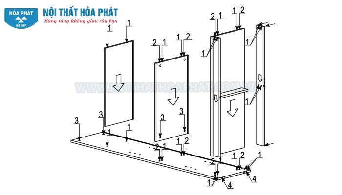 Hướng dẫn lắp đặt tủ 3 buồng SV1960-3B