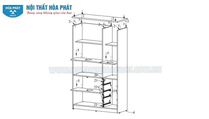 Hướng dẫn lắp đặt tủ SV1960-3G4D
