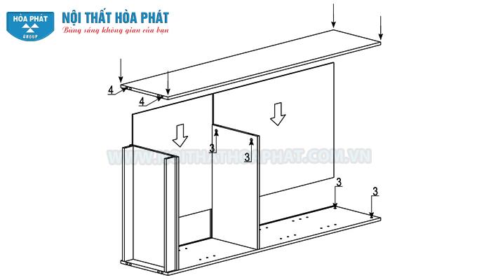 Hướng dẫn lắp đặt tủ tài liệu gỗ NT1960G