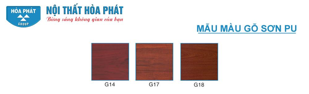 mẫu màu gỗ sơn PU Hòa Phát