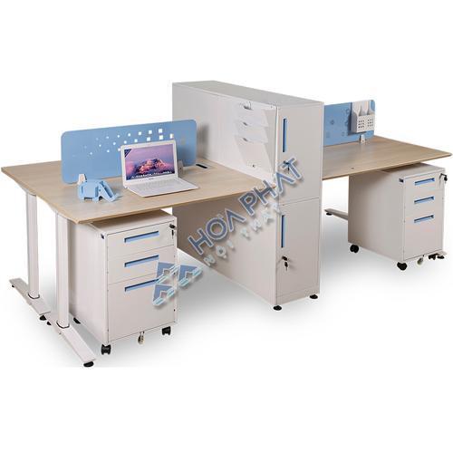 Module bàn làm việc chữ nhật 4 người UNMD04CS3