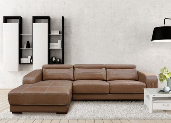 Sofa góc bọc da thật SF107A