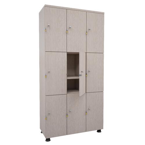 Tủ locker gỗ 9 ngăn TUG09