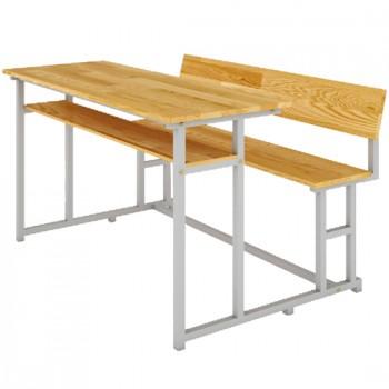 Bàn ghế sinh viên khung thép có tựa BSV108TG